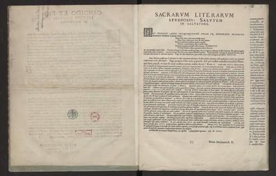 Sacrarum Literarum Studiosis: Salutem In Salwatore.