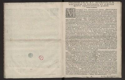 Propheticae Et Apostolicae Doctrinae In Ecclesiis Et Scholis […].