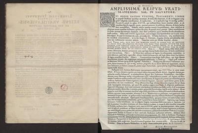 In Scholis Amplissimae Reipub: Vratislaviensis […].