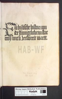 Historia destructionis Troiae [German]