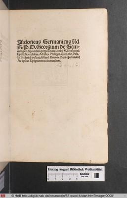 Isidoneus Germanicus de erudienda iuventute