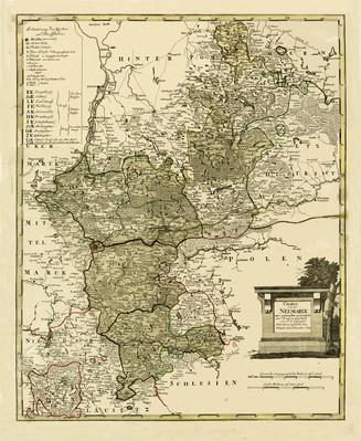 CHARTE von der NEUMARCK : neu entworfen und nach ihren Kreissen abgetheilt von F. L. Güssefeld. : Nürnberg zu finden bey Weigel und Schneider. 1789