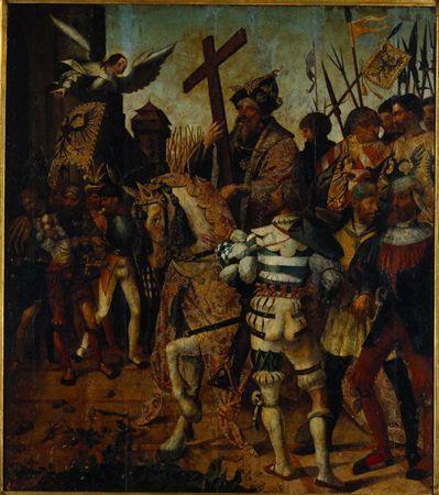 Imperador Heraclio com a Cruz / Painéis do retábulo-mor do Mosteiro de Santa Cruz, Coimbra