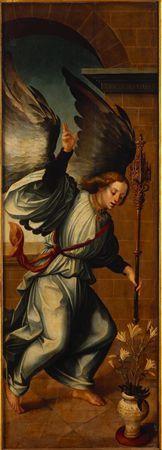 Arcanjo S. Gabriel (frente); S. Pedro (costas) / Tríptico da Aparição de Cristo à Virgem