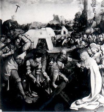 Invenção da Cruz por Santa Helena / Painéis do retábulo-mor do Mosteiro de Santa Cruz, Coimbra