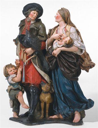 Casal de camponeses com filhos