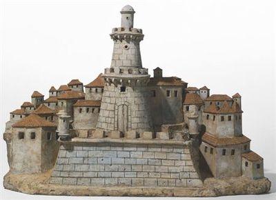Cidadela com torre cilíndrica