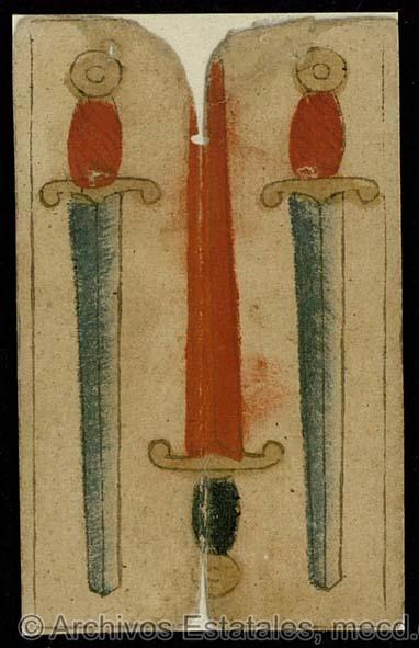 [Tres de espadas] [Material gráfico no proyectable]