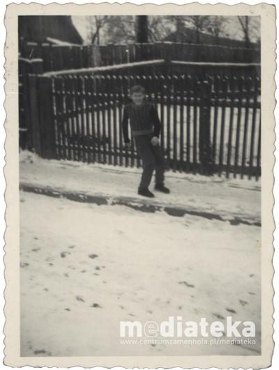 Zabawy na śniegu, Białystok, lata 60. XX w.