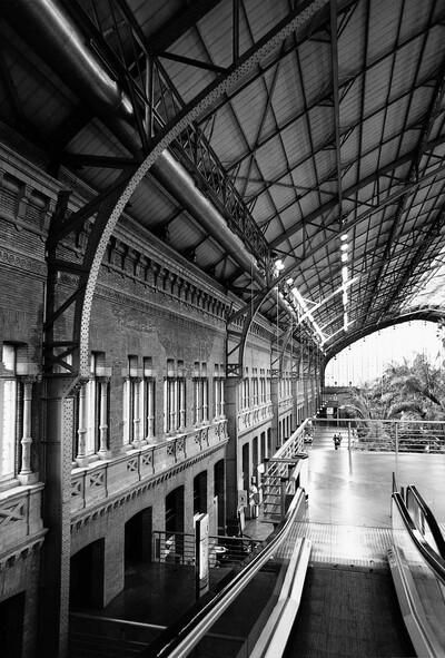 Estación de Atocha o del Mediodía, de la Compañía de Ferrocarriles de Madrid a Zaragoza y Alicante (MZA)
