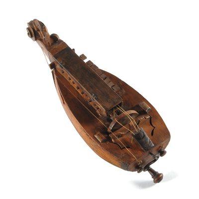 Vielle à roue forme luth, d'enfant