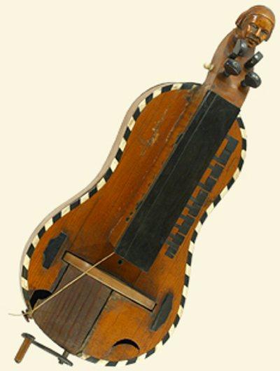 Vielle à roue d'enfant forme guitare