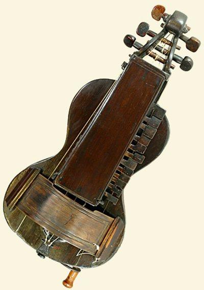Vielle à roue forme guitare