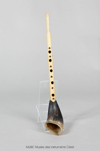 Zamr, clarinette simple en bambou et corne