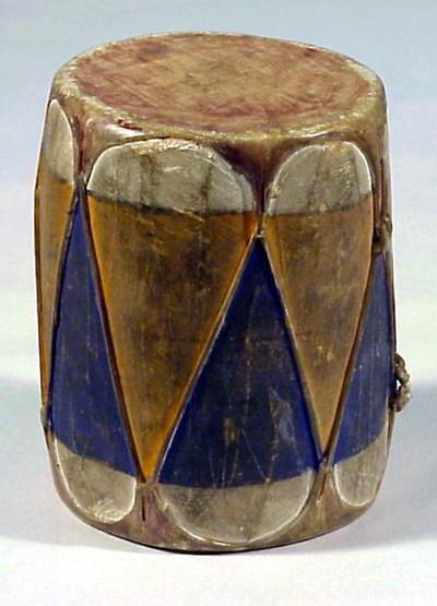 Miniature drum and stick