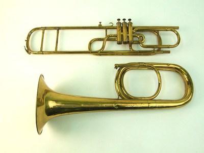 Bass valve trombone in E flat