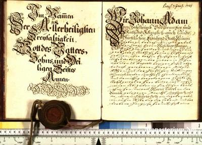 Urkunden 1740 XI 29