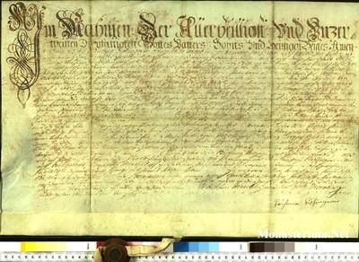 Urkunden 1740 XII 10