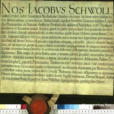 Urkunden 1748 IX 17