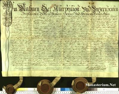 Urkunden 1749 XI 30
