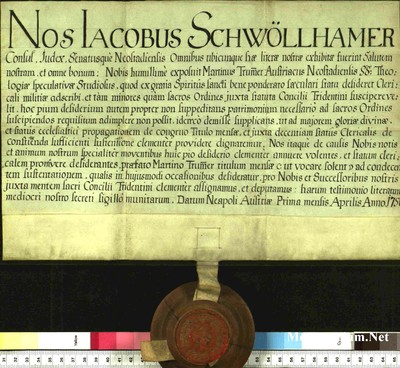 Urkunden 1750 IV 01