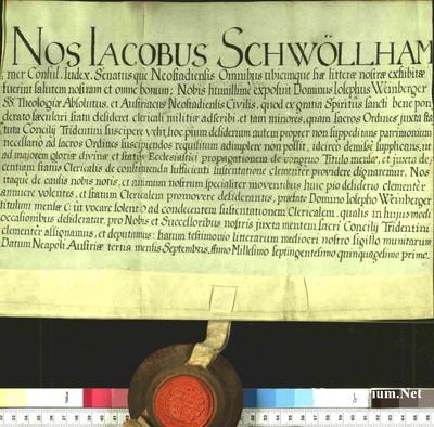 Urkunden 1751 IX 03
