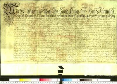 Urkunden 1752 VIII 03