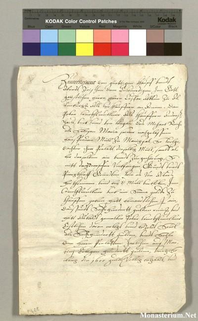 Urkunden 1585 IX 29