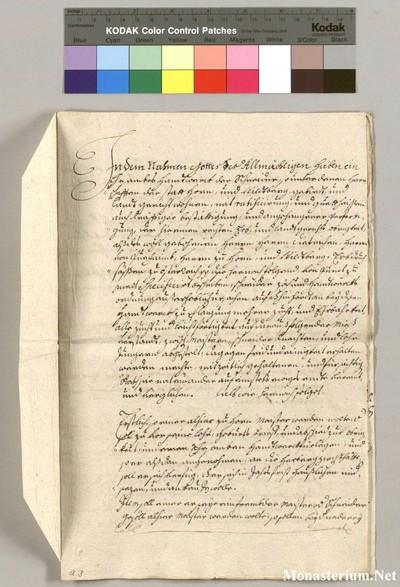 Urkunden 1586 III 01