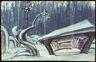 Aleksander Tuurandi lavakujunduse kavandi reprofoto. Simo Hunt (Eino Leino). Estonia 1925. V vaatus.