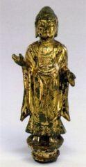 Statuina raffigurante Buddha stante