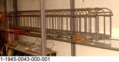 Geschweißtes Wagenkastengerippe in Ganzstahlleichtbauweise, Modell 1:10