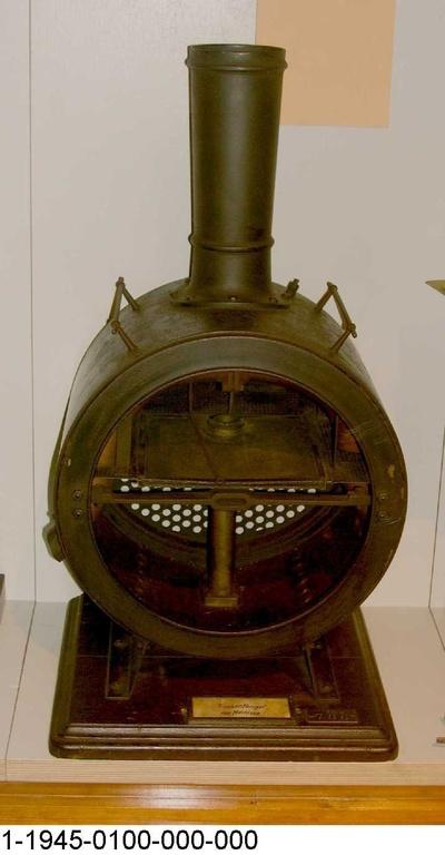 Rauchkammer mit Funkenfänger Bauart Meineke, Schnittmodell 1:5