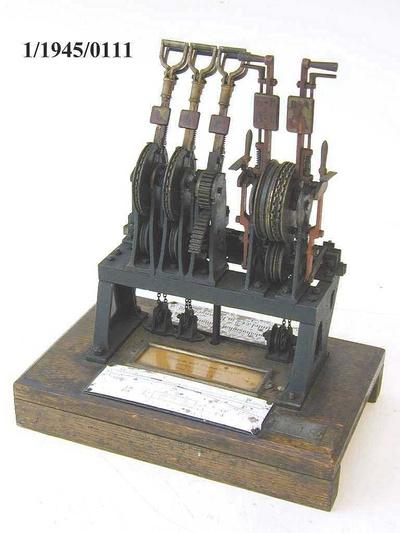 Weichen- und Signalstellwerk Jüdel, Steigbügel, Modell 1:5