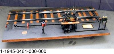 Weichen- und Signalstellwerk mit Gleisanlage System Rüppell,  Funktionsmodell 1:5