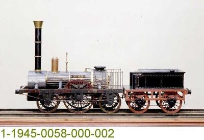 Dampflok DER ADLER für die Ludwigseisenbahn Nürnberg--Fürth, Modell 1:5
