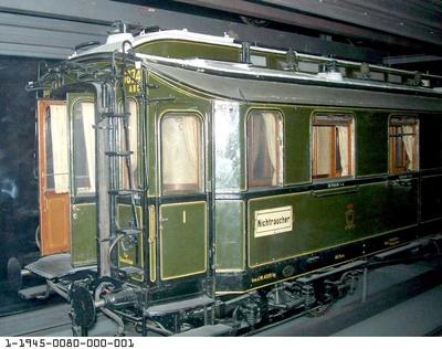 D-Zugwagen 1. bis 3. Klasse Danzig 0674, vierachsig, nach Musterblatt M Ia5, Modell 1: 5
