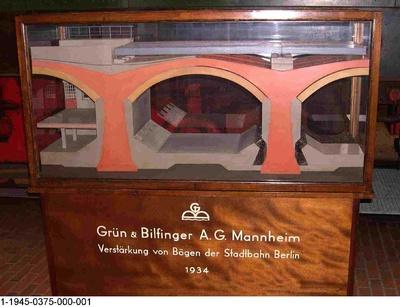 System Grün & Bilfinger zur Verstärkung der Berliner Stadtbahnbögen, Modell 1:20