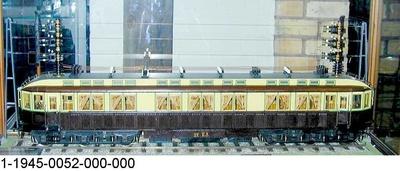Elektrischer Schnelltriebwagen der Militärbahn Marienfelde-Zossen, Modell 1:20