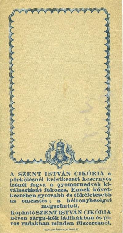 Szent István cikória