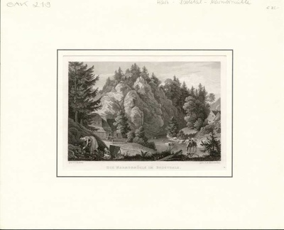 Die Marmormühle im Bodethale gez. L. Richter gest. von A. Macclatchie