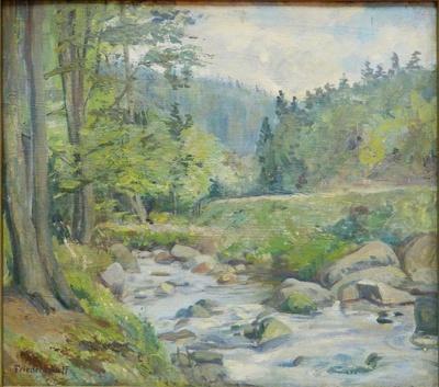 Waldlandschaft mit Bach