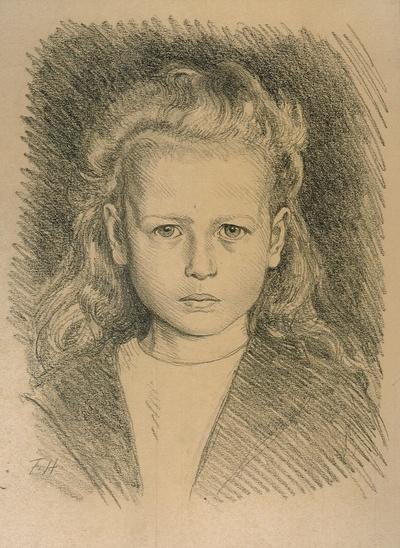 Porträt eines blonden Mädchens
