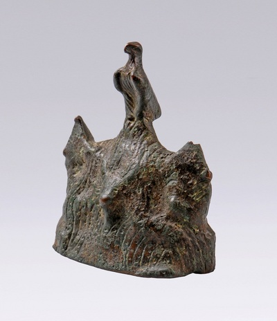 Bronzestatuette des heiligen Berges Argaios