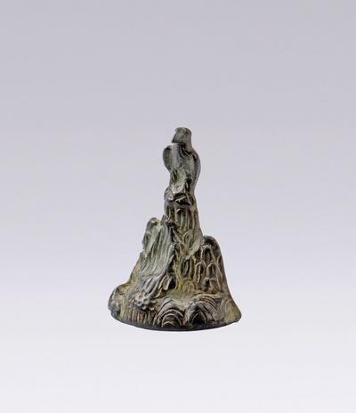 Kleine Bronzestatuette des heiligen Berges Argaios