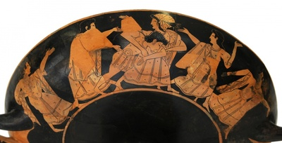 Peleus raubt Thetis - Ödipus und die Sphinx