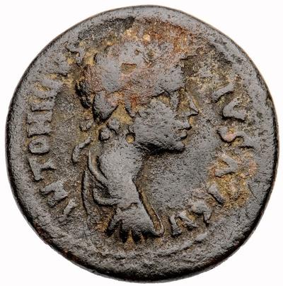 Bronzemünze: Büste des Kaisers Caracalla / Hirte und Pferd