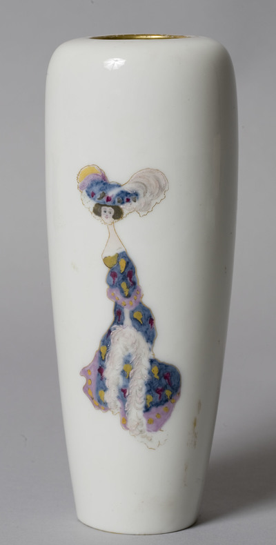Vase decorated with a female figure