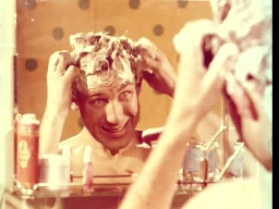 Keratin shampo og hårvann-reklame