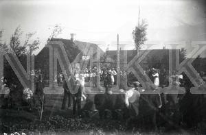 Fotonegatīvs. Zaļumballe Daugavpils apriņķa Rudzētu pagasta bijušajā Rudzētu muižā.